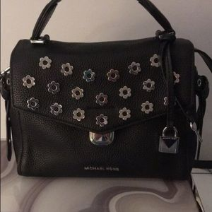 Michael Kors Bristol Leather Floral Rivet Bag